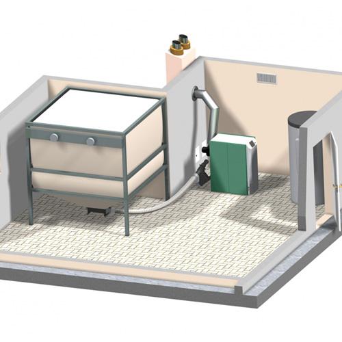 Doprema peleta fleksibilnim pužnim transportom sa stanicom za preuzimanje iz silosa