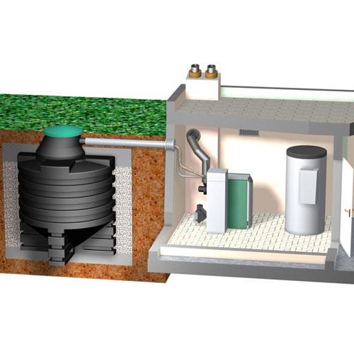 Doprema peleta modularnim sustavom sa stanicom za preuzimanje iz podzemnog spremnika usisavanjem