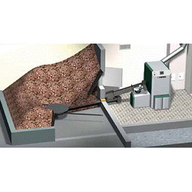 Usponski puž s odvojenim pogonom namijenjem za modularnu dopremu sječke/peleta krutim pužnim transportom s mješalicom