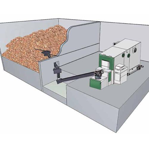 Dodatni usponski puž s odvojenim pogonom namijenjem za modularnu dopremu sječke/peleta krutim pužnim transportom