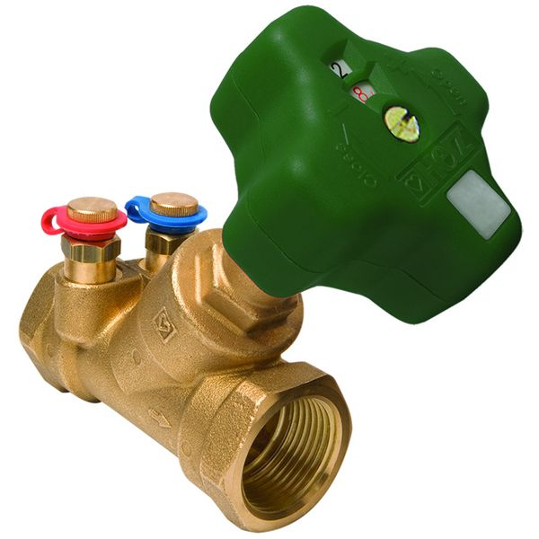 Stromax MW-granski regulacijski ventil s mjernim zaslonom za sustave pitke vode, koso sjedalo, neuspinjuće vreteno, navojni kolčaci, 2 mjerna ventila.