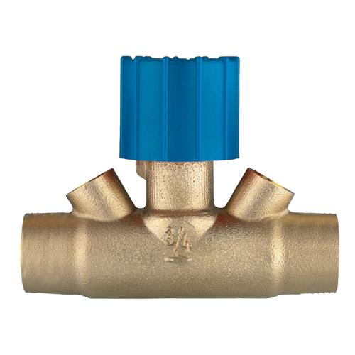 Ručni regulacijski ventil za solarna postrojenja,  STRÖMAX 4216 s priključkom za lemljenje