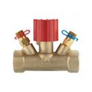 Ručni regulacijski ventil STRÖMAX MS,  ravna izvedba, s mjernim ventilima, unutarnji navoj
