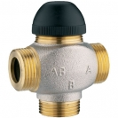 Termostatski troputni ventil bez premosnice - Radi kao miješajući i razdjelni ventil