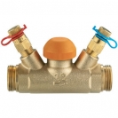 Termostatski regulacijski ventil STRÖMAX TS 98 V,  ravne izvedbe s mjernim ventilima i G (vanjski navoj)