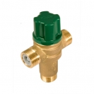 HERZ-ov termički miješajući ventil TMV 2 ulaz hladne i tople vode u ravnini